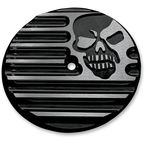 Gloss  Black Powdercoat Machine Head Air Cleaner Insert - C0019-B