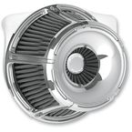 Chrome Slot Track Inverted Series Air Cleaner Kit - 18-920