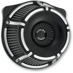 Black Slot Track Inverted Series Air Cleaner Kit - 18-921