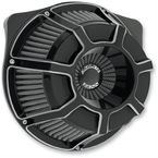Black Bevelled Inverted Series Air Cleaner Kit - 18-933