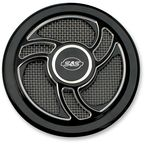 Wrinkle Black Powder-Coat Torker Stealth Air Cleaner Cover - 170-0206