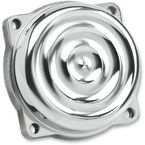 Polished Aluminum Ripple CV Carb Top Cover - CT-RIP-AL-PS