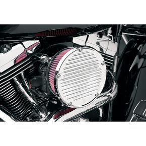Arlen Ness Chrome Big Sucker Derby Cover Air Filter Kit w/Pre-Oiled Standard Filter - 18-380