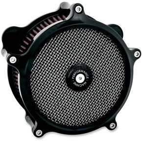 Performance Machine Black Super Gas Air Cleaner - 0206-2008-B