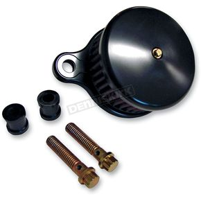 Joker Machine Black Anodized Smooth Air Cleaner Assembly - 02-140B