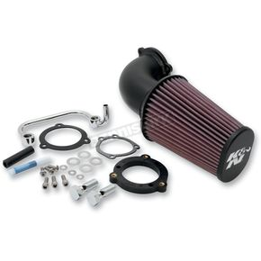 K & N Textured Black Air Charger Performance Intake Kit - 63-1126