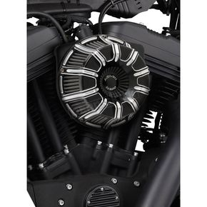 Arlen Ness Black Anodized Inverted Series 10-Gauge Air Cleaner Kit  - 18-945
