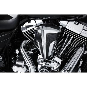 Ciro Chrome Cipher Air Cleaner w/Black Carbon Fiber Blades - 35103