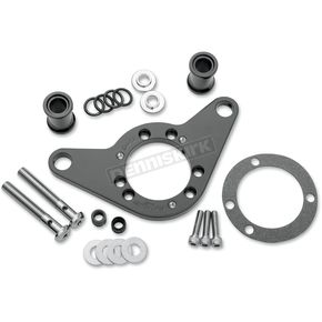 D & M Custom Cycle Black Carb Support Bracket and Breather Kit  - DM-52B