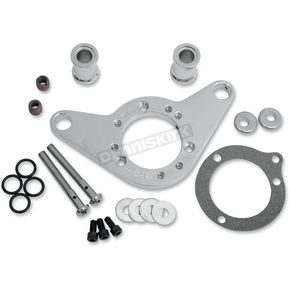 D & M Custom Cycle Chrome Carb Support Bracket and Breather Kit  - DM-53