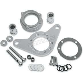 D & M Custom Cycle Chrome Carb Support Bracket and Breather Kit  - DM-54