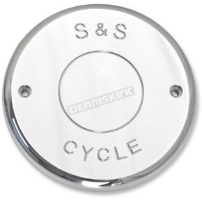 S&S Cycle Chrome Nostalgic Script Air Cleaner Cover - 170-0239