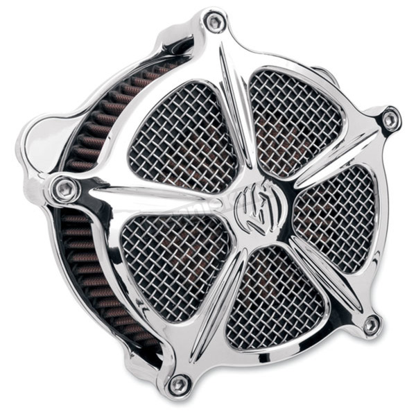 Roland Sands Design Chrome Venturi Speed 5 Air Cleaner - 0206-2002-CH