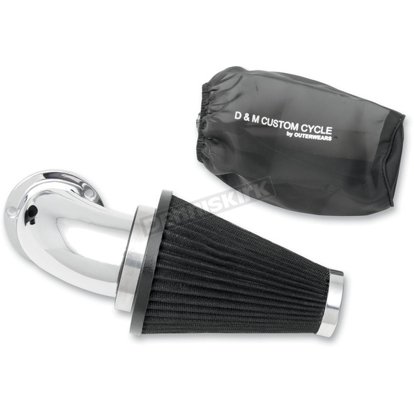 D & M Custom Cycle Ultimate Flow Air Cleaner Kit w/Chrome Elbow - DM-432