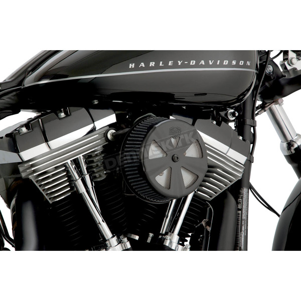 Vance & Hines Black Skull Cap Crown Air Cleaner Insert - 71019