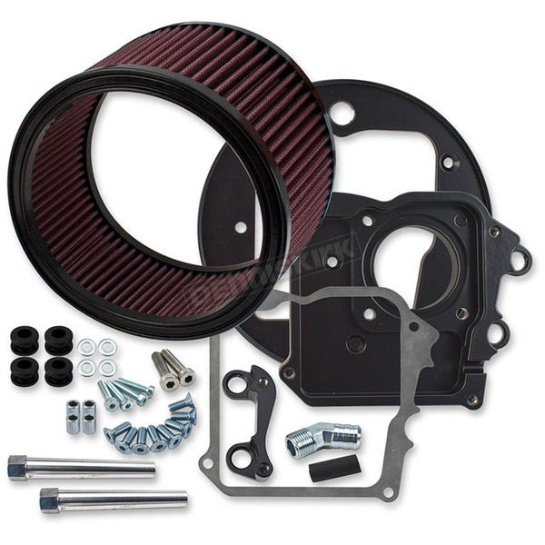 S&S Cycle Black Air Cleaner Kit w/o Cover - 170-0227A