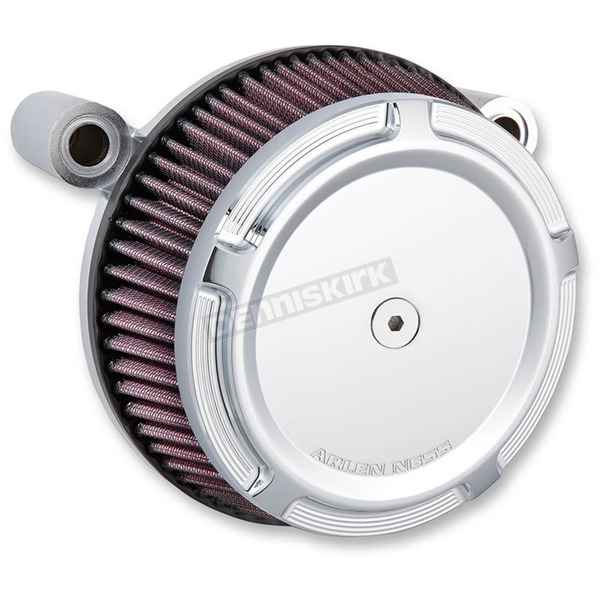 Arlen Ness Chrome Big Sucker Stage 1 Air Filter Kit w/ Beveled Cover - 50-846