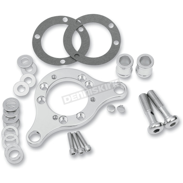 D & M Custom Cycle Chrome Carb Support Bracket and Breather Kit for CV Carb or Delphi EFI - DM-38