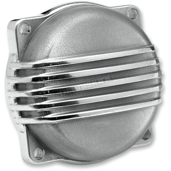 Biltwell Polished Aluminum Finned CV Carb Top Cover - CT-FIN-HD-PS