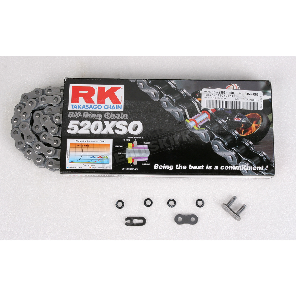 RK Chains 520 x 120 Links XSO Series Xring Sealed Natural Drive Chain