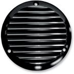 Black Finned Billet Derby Cover - 06-98TC
