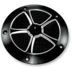 Star Cut Black Anodized Derby Cover - TC-025B