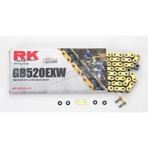RK GB520EXW Heavy-Duty Gold X-Ring Chain - GB520EXW-110