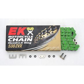 EK Chain Super Sport Series 530 ZVX Sealed Green Chain - 530ZVX2-110/N