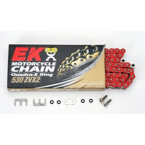 EK Super Sport Series 530 ZVX Sealed Red Chain - 530ZVX2-120/R