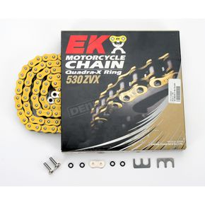 RK Super Sport Series 530 ZVX Sealed Yellow Chain - 530ZVX2150Y