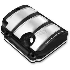 Performance Machine Platinum Cut Scallop Design Transmission Top Cover - 0203-2007-BMP