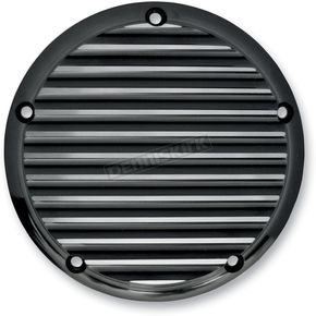 Black Finned Billet Derby Cover - 06-99TC