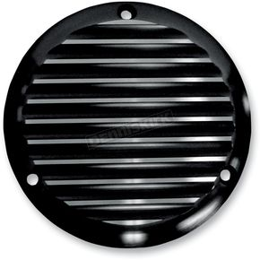 Joker Machine Black Finned Billet Derby Cover - 06-98TC