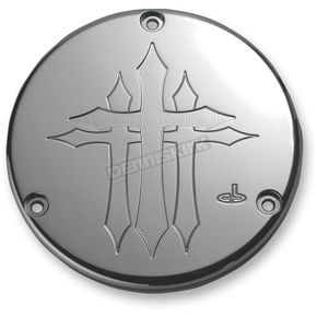 Carl Brouhard Designs Chrome Cross Derby Cover - CR-0003-C
