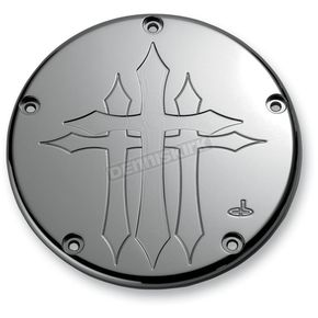 Carl Brouhard Designs Chrome Cross Derby Cover - CR-0004-C