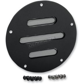 Drag Specialties Black Slot Derby Cover - 1107-0275