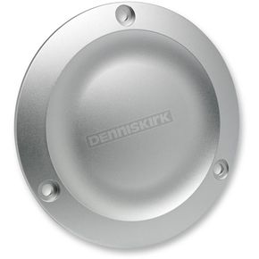 Biltwell Silver Anodized Dished Derby Cover - DD-8498-AL-BK