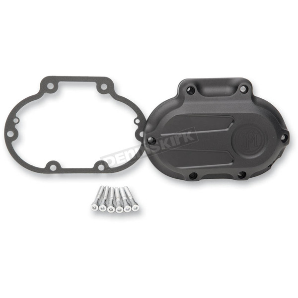 Performance Machine Black Ops Scallop Transmission Cover - 0066-2027-SMB
