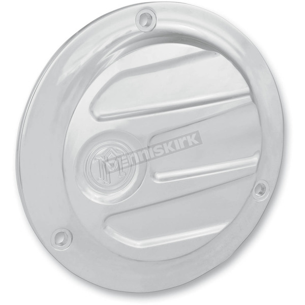 Performance Machine Chrome Scalloped Derby Cover- 3-Hole - 0177-2027-CH