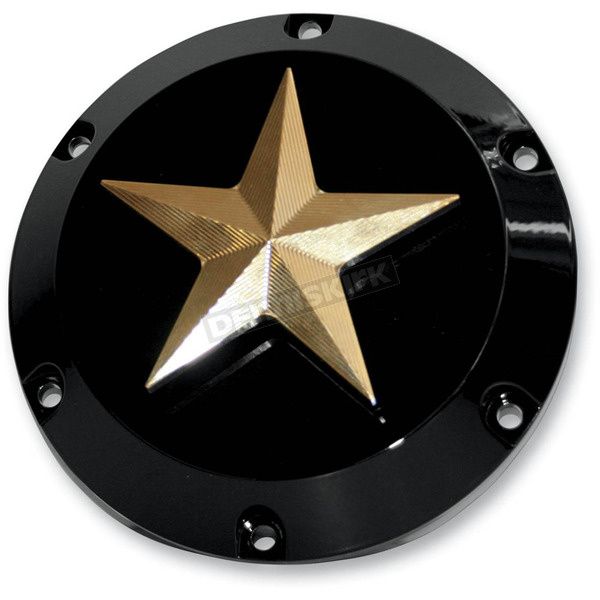 NYC Choppers Nautical Star Derby Cover - CL-NS-DRBY-BRSS
