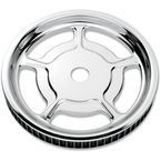 Chrome Rear Cush-Drive Aluminum Pulley - 0093-7268UNVLCH