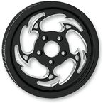 Black/Chrome Savage Eclipse Rear Pulley (Non-ABS) - 702R2K-85E-8