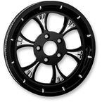Black/Chrome Majestic Eclipse Rear Pulley (Non-ABS) - 702R2K-102E-8