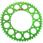 Green Kawasaki Rear 48 tooth Aluminum Sprocket - 408U-420-48GEGN