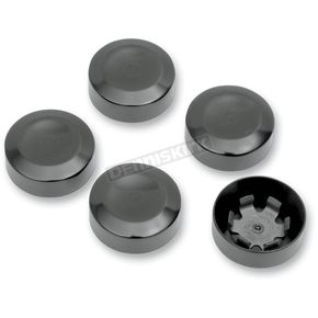Drag Specialties Black Rear Pulley Bolt Covers - 1201-0598