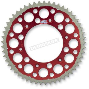 Renthal 48 Tooth Red TwinRing Heavy-Duty Sprocket - 1540-520-48GPRD