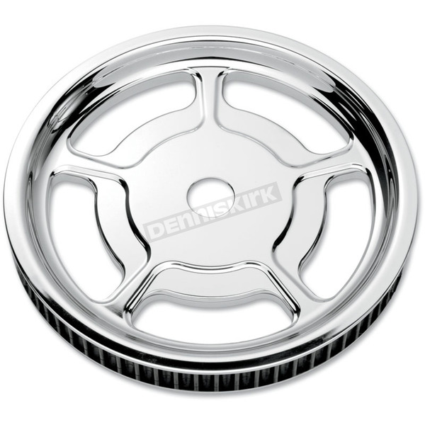 Performance Machine Chrome Rear Cush-Drive Aluminum Pulley - 0093-7268UNVLCH