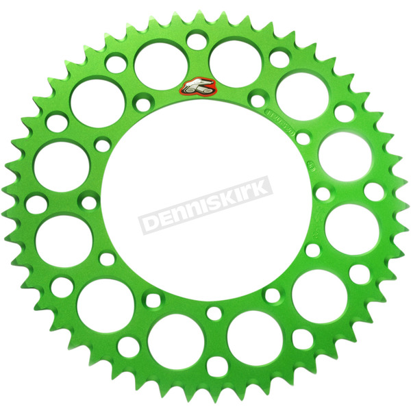 Renthal Green Kawasaki Rear 47 tooth Aluminum Sprocket - 408U-420-47GEGN