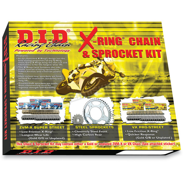 DID X-Ring Chain and Sprocket Kit - DKH-003