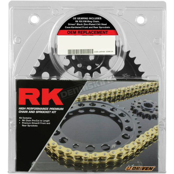 RK Natural Honda 530XSO-Z1 Chain and Sprocket Kit  - 1086-020E